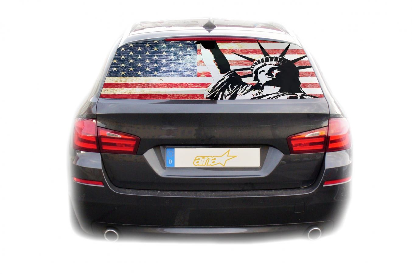 Auto Kfz Heckscheibe Fenster Aufkleber Sticker Usa Amerika