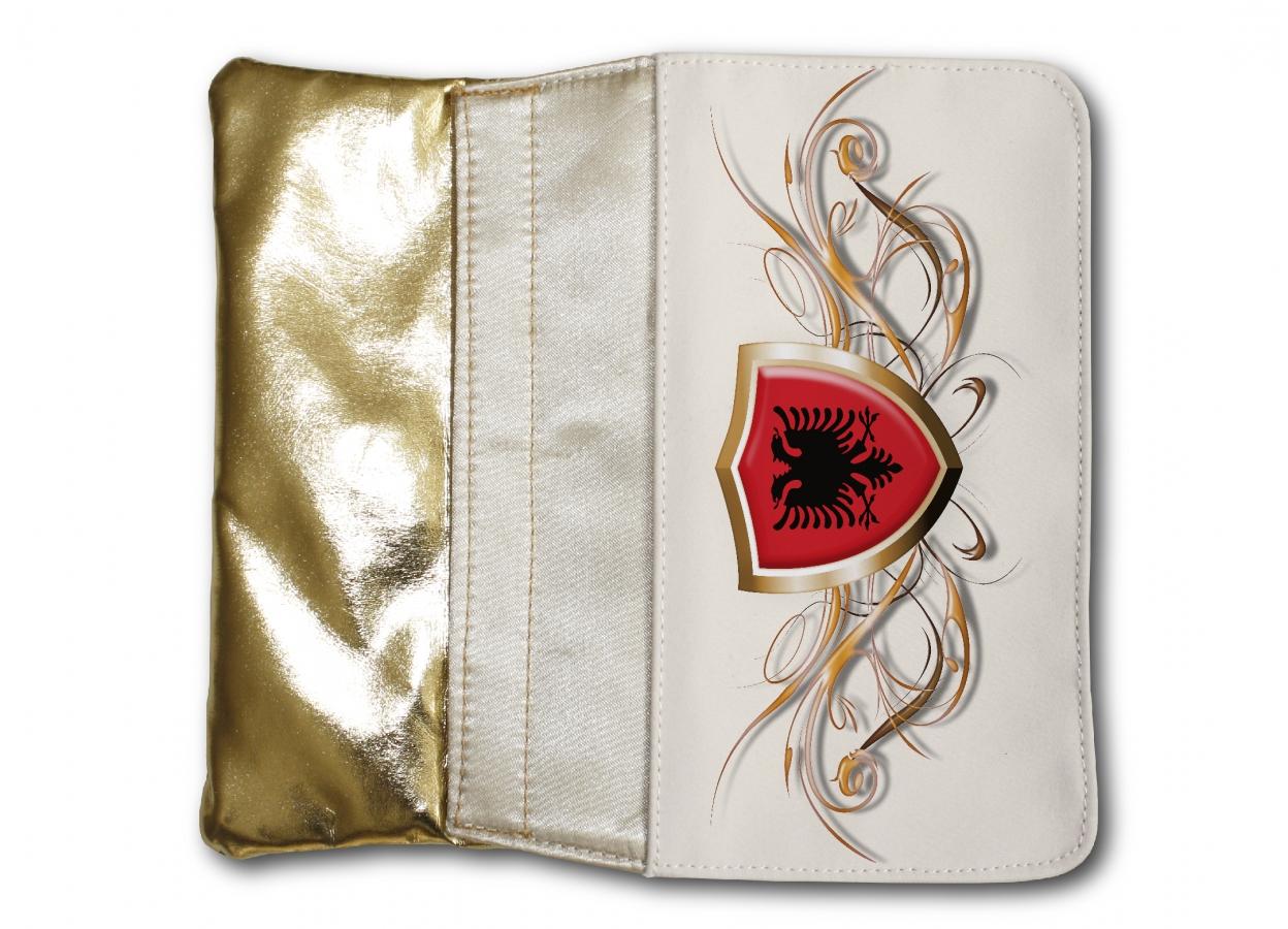 a8115ddac8acc Damen Tasche GOLD Portemonnaie Albanien Fahne 3