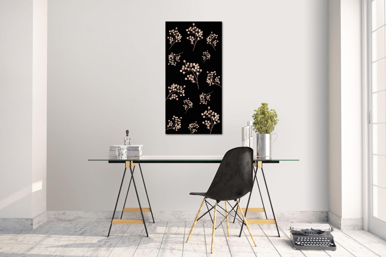 Gewaltig Wandtattoo Gold Beste Wahl Wandsticker Aufkleber Glitter Flowers Grösse: 60 X